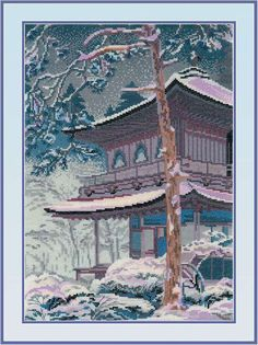 "Counted Cross Stitch Kit RIOLIS - ""The Pagoda"" in Crafts, Needlecrafts & Yarn, Cross Stitch & Hardanger | eBay"