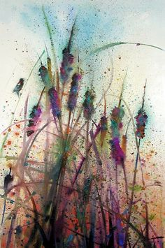 Wild grass..watercolour painting