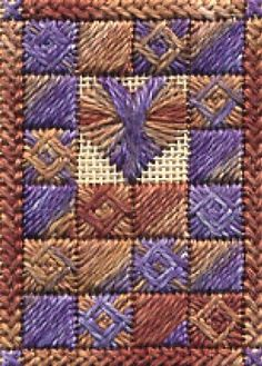 Boxed Heart - free counted canvas pattern