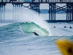 Epic January swell brings Seal Beach California to life.