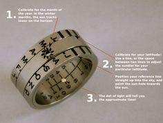 Aquitaine Sundial Ring | Retroworks – Secret Decoder Rings
