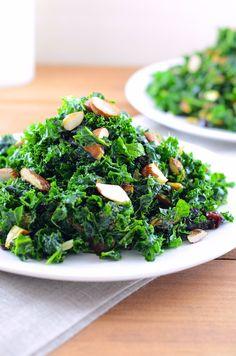 Date Night Kale Salad (vegan)