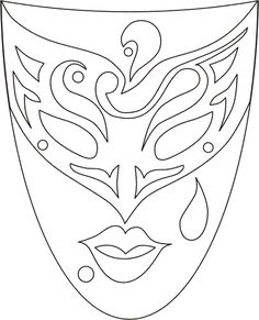 venetian_masks_1 Adult coloring pages