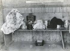 Lunch Pails at Sedan Prairie School 1919 Abc School, Old School House, Prairie School, Historical Society, Vintage Paper, Schools, Abandoned, Homeschool, Teacher