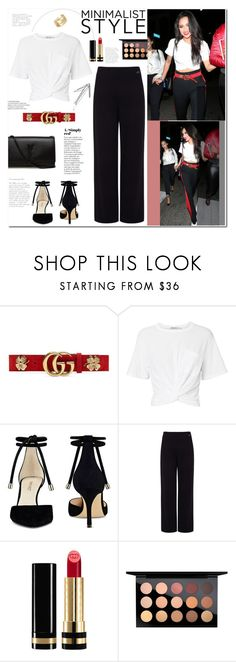 """""""Shay Mitchell"""" by mery90 ❤ liked on Polyvore featuring Gucci, T By Alexander Wang, Nine West, Pink Tartan, Yves Saint Laurent, MAC Cosmetics, Cartier, GetTheLook, StreetStyle and shaymitchell"""