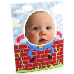 Humpty Dumpty photo frame.   #hobbyideas #plasticcanvas #crafts #humpty