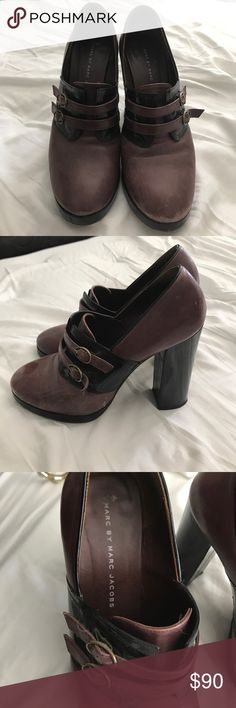 Marc Jacobs heals Black and burgundy Marc Jacobs shoes with buckle - price negotiable Marc By Marc Jacobs Shoes Heels