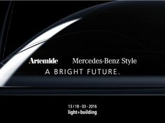 Artemide and Mercedes-Benz Style - A Bright Future. Two leaders in their respective fields partner to design new synergies, initiate a project path to express the skills of both based on shared values. The result perfectly embody how the light competence of Artemide, combined with the distinctive trait of Mercedes on forms and materials, can give life to something awesome and unexpected. #DiscoverAmeluna ►http://www.artemide.com/blog/artemidemercedes/