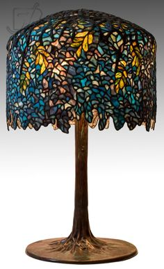 Tiffany Stained Glass, Stained Glass Lamps, Tiffany Art, Tiffany Lamps, Lamp Light, Light Up, Glass Collection, Wisteria, Chandelier