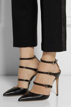Gianvito Rossi | Buckled leather pumps | NET-A-PORTER.COM