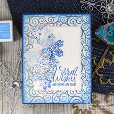 """""""Add a fun touch of foil to holiday greetings with the easy-to-use and innovate Stamp n Foil System by Gina K. Clear stamps, dies and toner-printed Foil-Mates work together to create the WOW! Recycled Paper Crafts, Crochet Christmas Stocking Pattern, Popular Crafts, Winter Cards, Christmas Projects, Christmas Ideas, Wow Products, Clear Stamps, Christmas Cards"""