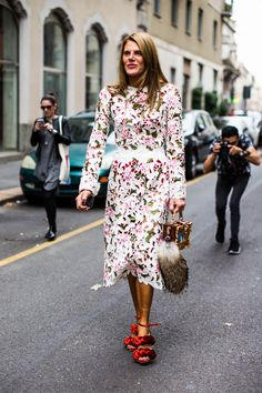 great dress. AdR in Milan. #AnnaDelloRusso