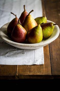 Poached Pears with Bay Salted Caramel Mangalitsa Pork, Fermented Honey, Pork Cheeks, Crispy Onions, Poached Pears, Homemade Butter, Tasting Menu, Fresh Cream, Latest Recipe