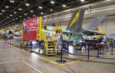 Lockheed Martin F-35 Lightning II Joint Strike Fighter assembly line,Fort Worth.