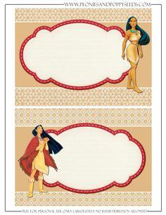 Invitación Pocahontas.