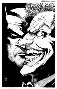 Art Vault Batman and The Joker by Heubert Khan Michael - Batman Poster - Trending Batman Poster. - Art Vault Batman and The Joker by Heubert Khan Michael Joker Comic, Joker Batman, Joker Art, Batman Art, Gotham Batman, Joker Drawings, Batman Drawing, Comic Drawing, Joker Kunst