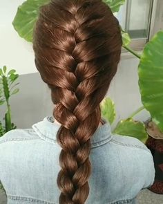 Beautiful hairstyle - All For Hairstyles DIY Braided Hairstyles Tutorials, Easy Hairstyles For Long Hair, Braids For Long Hair, Girl Hairstyles, Hairstyles Videos, Front Hair Styles, Medium Hair Styles, Hair Dye Colors, Grunge Hair