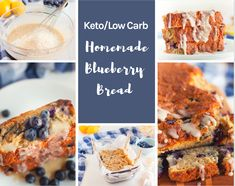 Easy Homemade Keto Blueberry Bread that is easy to make, delicious, and it doesn't taste eggy at all. This is a great keto bread recipe you. Blueberry Bread Recipe, Blueberry French Toast Casserole, Low Carb Desserts, Low Carb Recipes, Bread Recipes, Diabetic Recipes, Diabetic Snacks, Ketogenic Recipes, Dessert Recipes