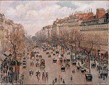 Camille Pissarro, Boulevard Montmartre, 1897, the Hermitage, Saint Petersburg