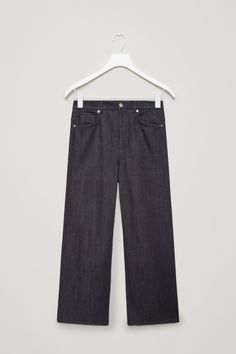 COS image 2 of Relaxed wide-leg jeans in Navy