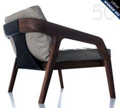 """Love this handsome """"Friday"""" armchair by Zeitraum #modern #furniture"""