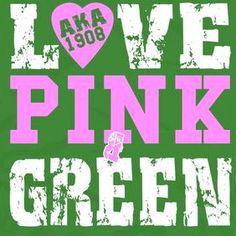 AKA pink and green love