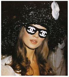 Kate Moss in Chanel glasses