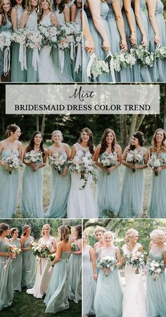 Top 5 Bridesmaid Dress Color Trends for 2019 - EmmaLovesWedd.- Top 5 Bridesmaid Dress Color Trends for 2019 – EmmaLovesWeddings mist bridesmaid dresses for 2019 trends - Mint Green Bridesmaid Dresses, Bridesmaid Dresses Plus Size, Wedding Bridesmaid Dresses, Bridesmaid Color, Mint Dress, Bridesmaid Outfit, Dress Wedding, Chiffon Rock, Flower Girl Dresses