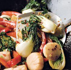 Stir-Fried Chili Scallops with Baby Bok Choy #chinesenewyear #30min #recipe