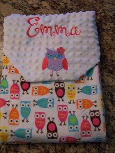 Soft personalized. Cuddle Night Owl by PreciousLoveDesigns on Etsy, $39.00