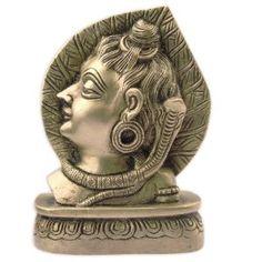 Statuette tête de Shiva en laiton - Décoration hindoue: Amazon.fr: Cuisine & Maison