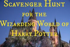 Scavenger Hunt for the Wizarding World of Harry Potter in Islands of Adventure at Universal Studios Orlando. Try to find all the things!!!