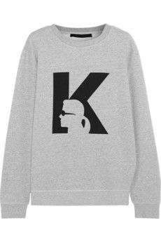 Karl Lagerfeld Anna printed cotton-jersey sweatshirt | THE OUTNET