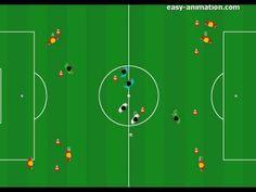 Fussball Training: Spielverlagerung und vertikale Pässe positions-spezifisch trainieren - Fussballtraining24