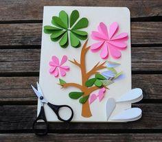 Цветочная открытка своими руками На её создание у тебя уйдет не больше 15…