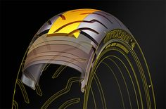 Dunlop Tire Technical Illustrations - Technical Illustration - Jim Hatch Illustration