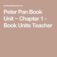 peter pan lesson plans peter pans short essay and learning styles peter pan book unit chapter 1 book units teacher