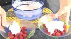 Easy Gourmet Dessert Recipes : Berries & Cream Fruit Dessert Recipe