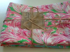 Lilly Pulitzer Burpcloths 2  Ready to Ship by BabyStitchBoutique