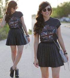 A touch of Rock (by Daniela Ramirez) http://lookbook.nu/look/3203777-A-touch-of-Rock-Roll