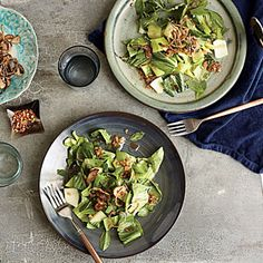Bok Choy Salad with Fried Shallots | Cooking Light #myplate #veggies