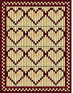 "The quilt is just three blocks by four, with a (2"")  border, then a (also 2"")checkerboard border, and a final 2"" frame! This would measure about 82"" x 106"". Note that on the final right hand row of blocks you omit the furthest right vertical row. (The connecting row)"
