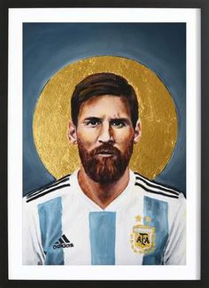 Football Icon - Lionel Messi by David Diehl as Poster Football Messi, Art Football, God Of Football, Soccer Art, Football Icon, Soccer News, Retro Football, Fcb Barcelona, Lionel Messi Barcelona