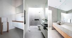 Here are six ideas to inspire you to create your own minimalist bathroom oasis. Minimalist Bathroom Design, Bathroom Interior Design, Minimalist Decor, Modern Minimalist, Minimalist Design, Minimalist Bedroom, All White Bathroom, Modern Bathroom, Small Bathroom