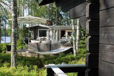 mökki arkistot - At Maria's Outdoor Spaces, Outdoor Living, Log Homes, Outdoor Furniture, Outdoor Decor, Studio, Garden Design, Relax, Cottage