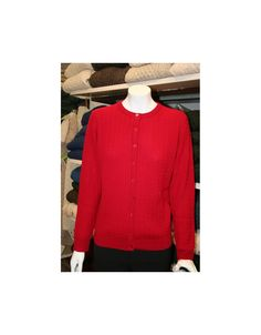 Baby cable extra fine merino wool lumbar cardigan available from Irish Handcrafts of Limerick.