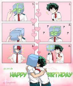 That's absolutely adorable 😭 My Hero Academia Shouto, My Hero Academia Episodes, Hero Academia Characters, Anime Films, Anime Characters, Lgbt Anime, Mini Comic, Hero Wallpaper, Anime Boyfriend