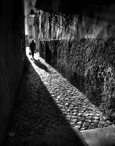"Rui Palha A bit of lighting, Portugal From "" - by Rui Palha Monochrome Photography, Urban Photography, Black And White Photography, Street Photography, Photo B, Jolie Photo, André Kertesz, Black And White Pictures, Light And Shadow"