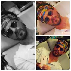 """""""Love my comic strip bandana,keeps my head together against people who r about to exceed the limits of my medication.""""  19 SEPT 2015"""