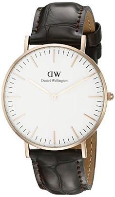 Fashionidium | Daniel Wellington Women's 0510DW Classic York Stainless Steel Watch With Brown Leather Band